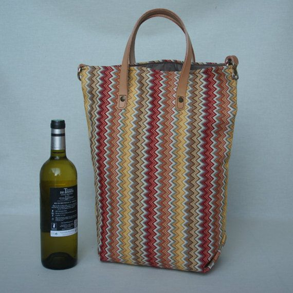 Tote Bag/Shopping bag/ Leather & Cotton bag by ReefKnotBags