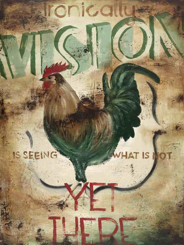 Ironically vision is seeing what is not yet there----well said...Rodney White is the best...love his stuff!!