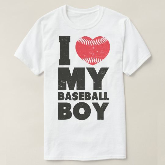 I Love My Baseball Boy Custom Shirts