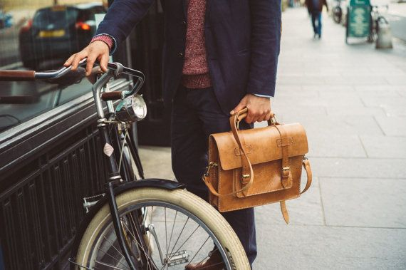 13 Leather Messenger Leather Briefcase Men by BennyBeeLeather