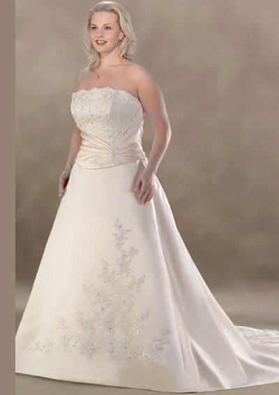 Gothic style plus size wedding dresses