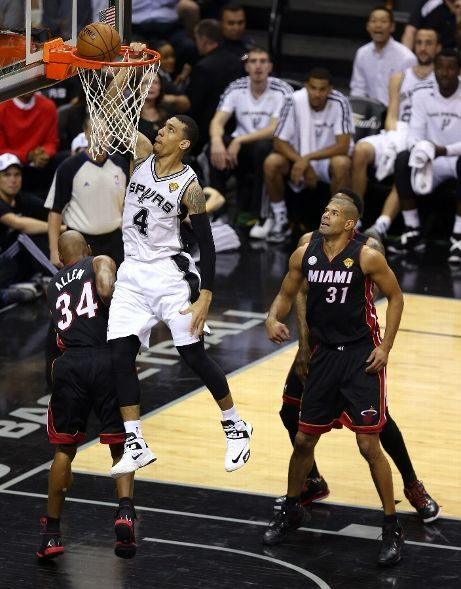 A rare Danny Green Ranger dunk (June 13, 2013 | NBA Finals | Game 4 | Miami Heat @ San Antonio Spurs | AT Center in San Antonio, Texas)