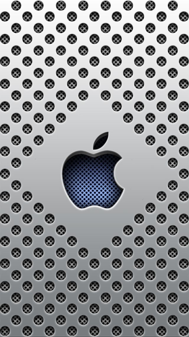 Silver dots apple logo iphone 5 wallpaper iphone for Photo fond ecran iphone