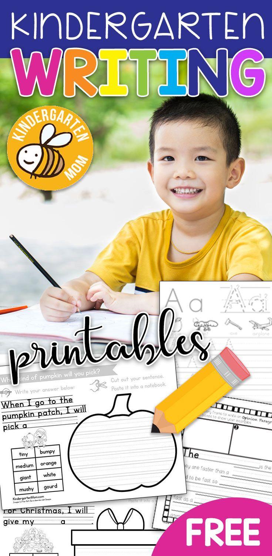 Free Kindergarten Writing Printables Writing Prompts Interactive Not Interactive Notebooks Kindergarten Kindergarten Writing Kindergarten Writing Activities [ 1500 x 735 Pixel ]