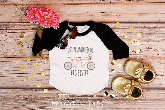 Big Sister Shirt; Baby Announcement; Sibling Shirt; Family Pictures; Big Sister Announcement Shirt; New Sibling Announcement; Bicycle