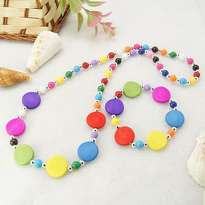 Handmade Fashion Acrylic Jewelry Sets for Kids: Bracelets and Necklaces
