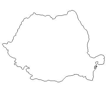 free blank outline map of romania romania information outline maps ...