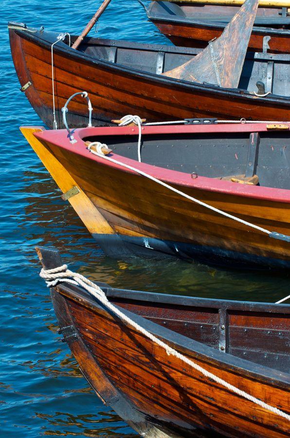 Wooden boats, Skeppsholmen Island, Stockholm, Sweden