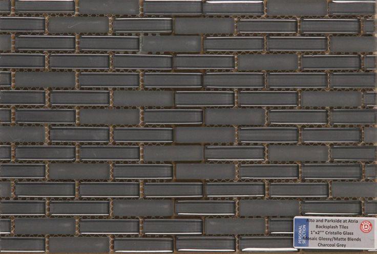 Personal Selection Kitchen Backsplash - Cristallo Mosaics Glossy Matte Blends Charcoal Grey