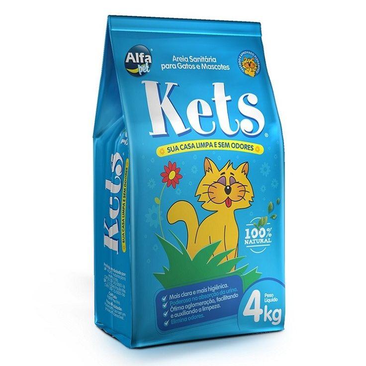 Areia Higiênica Kets para Gatos - 4kg - Principais Características • Elimina odores; • Mais clara e Higiênica; • Poderosa na Absorção; Descrição do produto • Areia sanitária com granulometria tradicional; • 100% natural; • Não contém aditivos químicos que trazem riscos de alergias; • Embalagem de 4kg. • Seguro para os animais; • Neutraliza rapidamente os odores; • Não cáustico e não corrosivo; • Não irritante; • Pode ser usado por animais de qualquer idade; • Promove a saúde colaborando com…