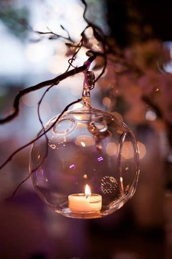 Instead of tea lights place a strand of tiny lights