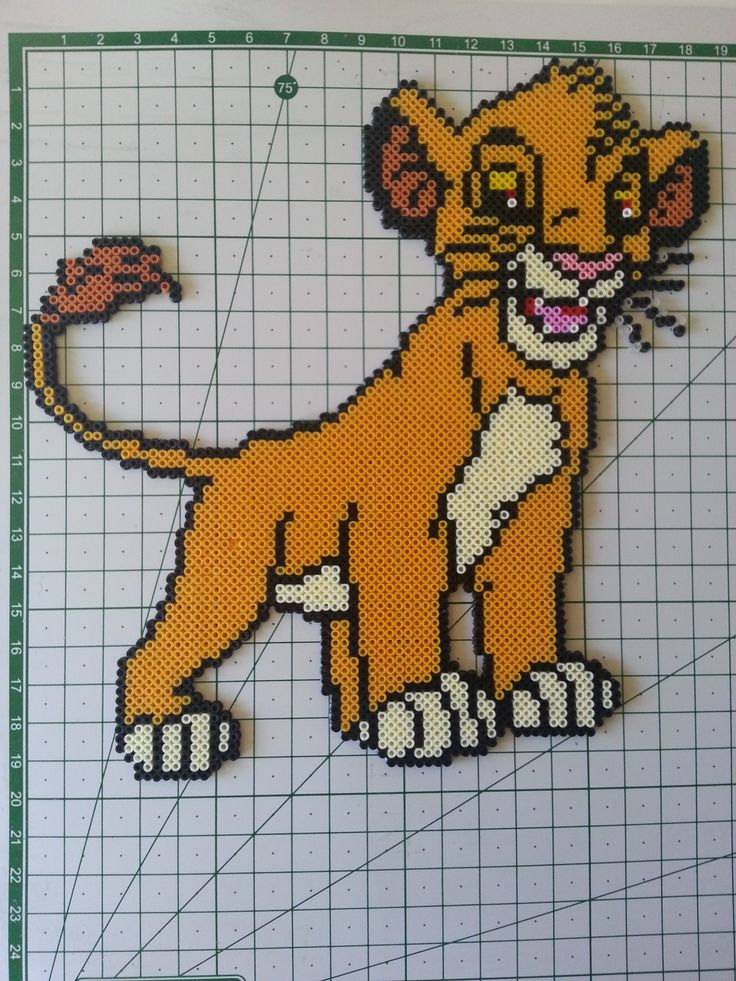 Simba The Lion King hama perler beads by Sevihama - Pattern: http://www.pinterest.com/pin/374291419006314217/
