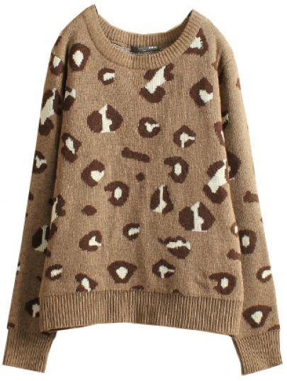 Leopard Long Sleeve Sweater