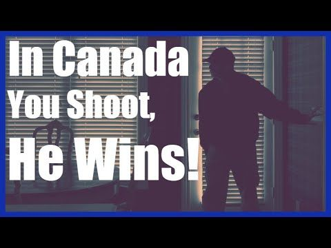 Canadians Have ZERO Rights To Self Defence - Home Invasion Victim Charge...