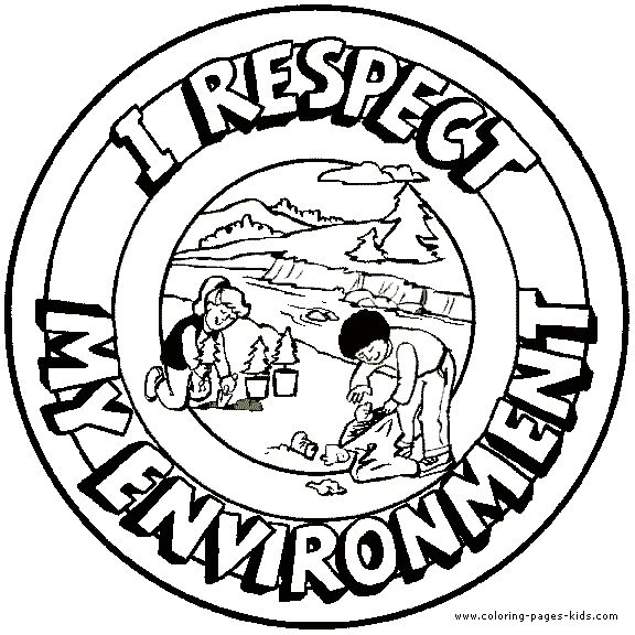 I Respect My Environment Morale Lesson Color Page Respect Coloring Pages