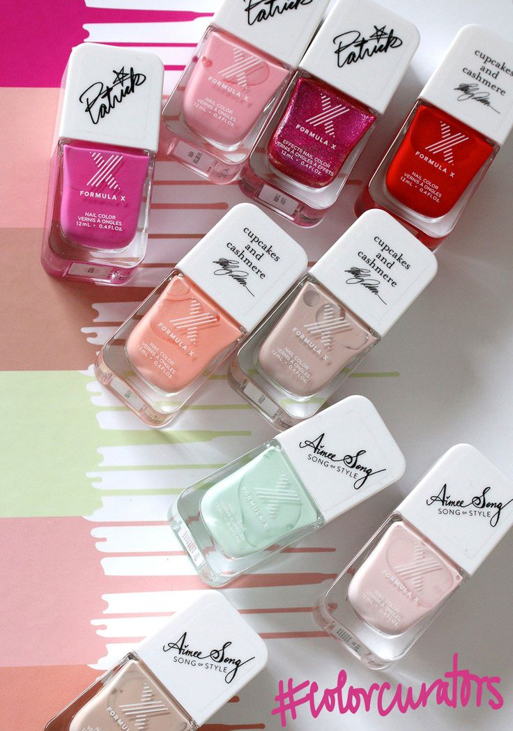 The Sephora Formula X #ColorCurators Edition Nail Polishes for 2016