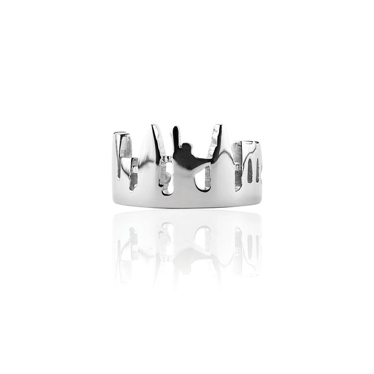 New York Skyline Ring Silver 925 with AntiTarnish Treatment  Price: 210€ 100% Made In Italy  Available Online at http://www.preziosajewelry.com/shop-preziosa/it/