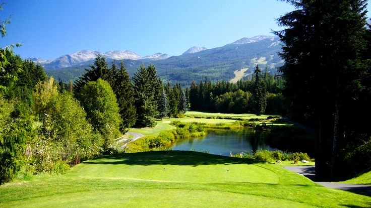 "The Whistler Golf Club - #16 Par 4. ""The Gallery"""