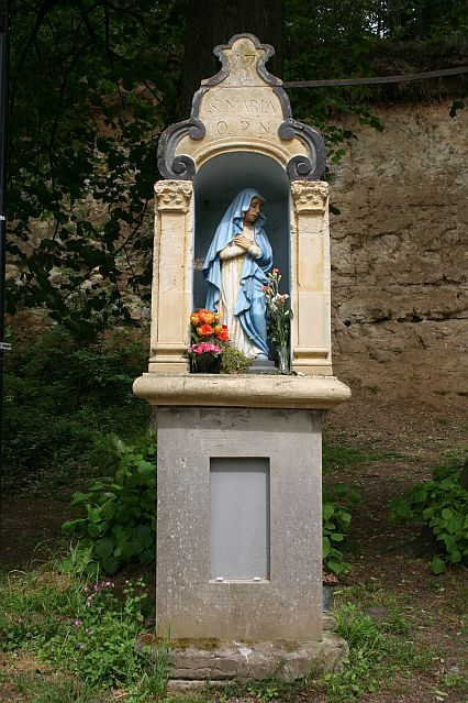 S. Maria O.P.N.  A road shrine for Mary in Valkenburg aan de Geul, the Netherlands.