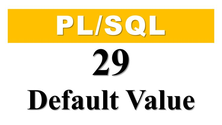 PL/SQL tutorial 29: How To Create Cursor Parameter With Default Value By Manish Sharma Check out the latest #PLSQL tutorial and learn how to make a cursor parameter more efficient by using the parameter with Default value in #Oracle #Database.