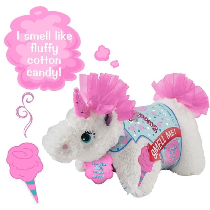 Pillow pets sweet scented pets cotton candy for Amazon com pillow pets