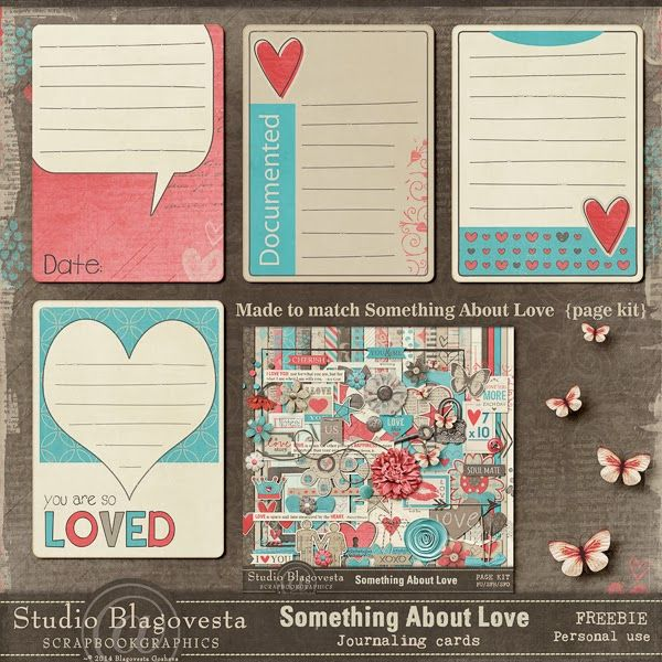 Free Something about love... Journal Cards from Blagovesta Gosheva