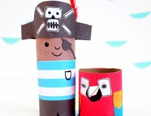 Toilet Roll Crafts – Meet Mr Pirate and Mr Parrot!