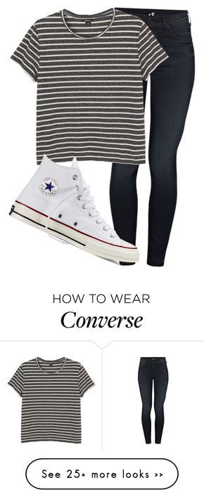 """Untitled #1130"" by abbeycadabbey on Polyvore featuring Mother, Monki and Converse"