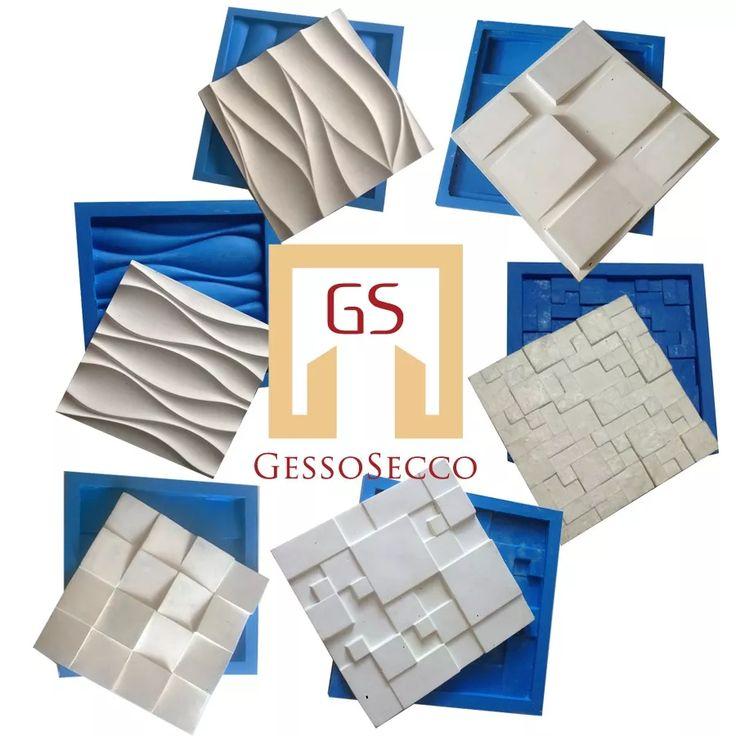 kit 6 formas de silicone 3d para placa gesso promoção