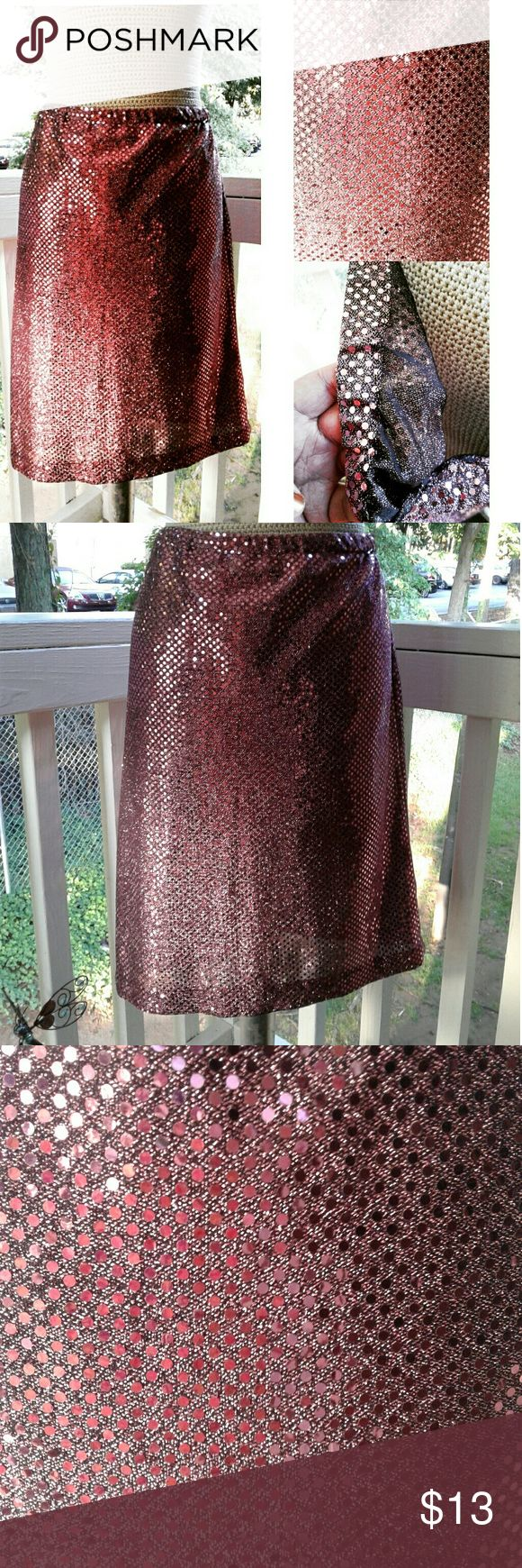 Pink Sequin Pencil Skirt Pink Sequin Pencil Skirt handmade  Skirts Pencil