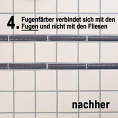 Fugen faerben-Fugen erneuern mit Fugenfaerbe von Karl Dahm-Neue Farben