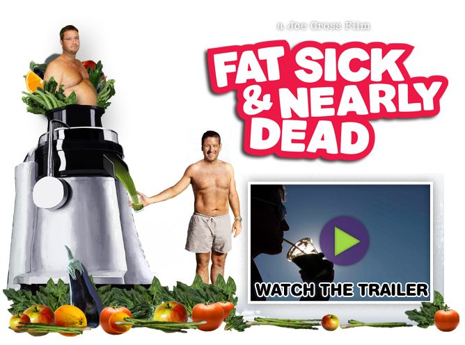 Fat, Sick and Nearly Dead: a really great informative movie about the extreme benefits of juicing. By the way, if you want to juice, the Breville is great for fibrous fruits and veggies like apples and carrots. However, if you want to properly juice greens like kale or green onions or lettuce, you need to get a greens juicer. One of the best is the Green Star Juicer which you can find at greenstar.com. JUICE ON!