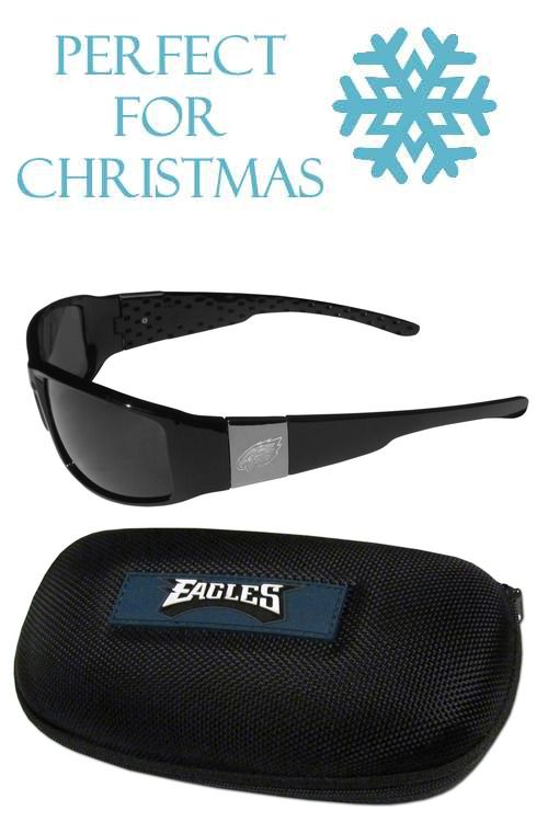2547fb123398 This set includes our sleek and stylish Philadelphia Eagles chrome wrap  sunglasses and our hard shell