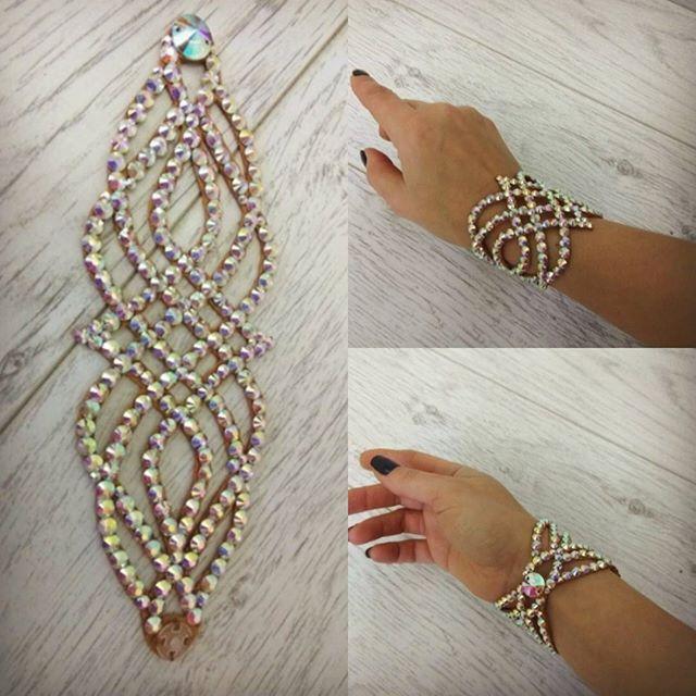 Браслетик с пылу, с жару! #танцевальнаябижутерия #браслет #украшенияручнойработы #стразы #dancejewelry #bracelet #handmade