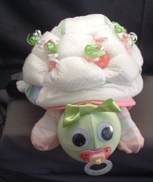 baby shower sea turtle theme girl | DIAPER TURTLE Diaper Cake TOPPER Girl Baby Shower Decorations Pink ...
