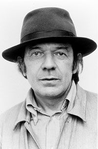 Gilles Deleuze. He quit drinking sometime in the early 80s. He could have a coffee while I have a glass of Ricard, no problem.