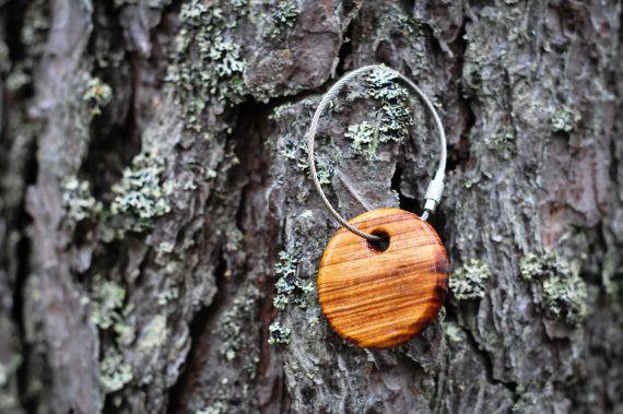 SALE FREE Shipping Zebrano Wood Keychain от silentmorningforest