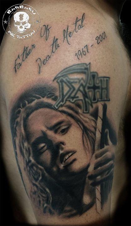 #tattoo #tattooist #tattooed #bestspaintattooartist #blackandgreytattoo #chuckschuldiner #chuchschuldinertattoo #death #deathmetaltattoo
