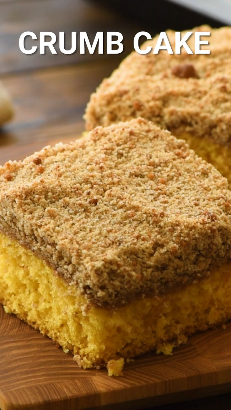 Crumb Cake is a simple yellow cake mix dressed up with the ...