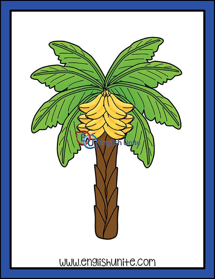 Bats Banana Tree English Unite Banana Tree Pine Tree Art Tree Line Drawing