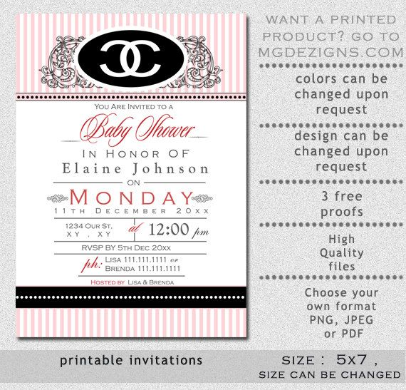 Coco Chanel Party Invitation Party Dressesdressesss