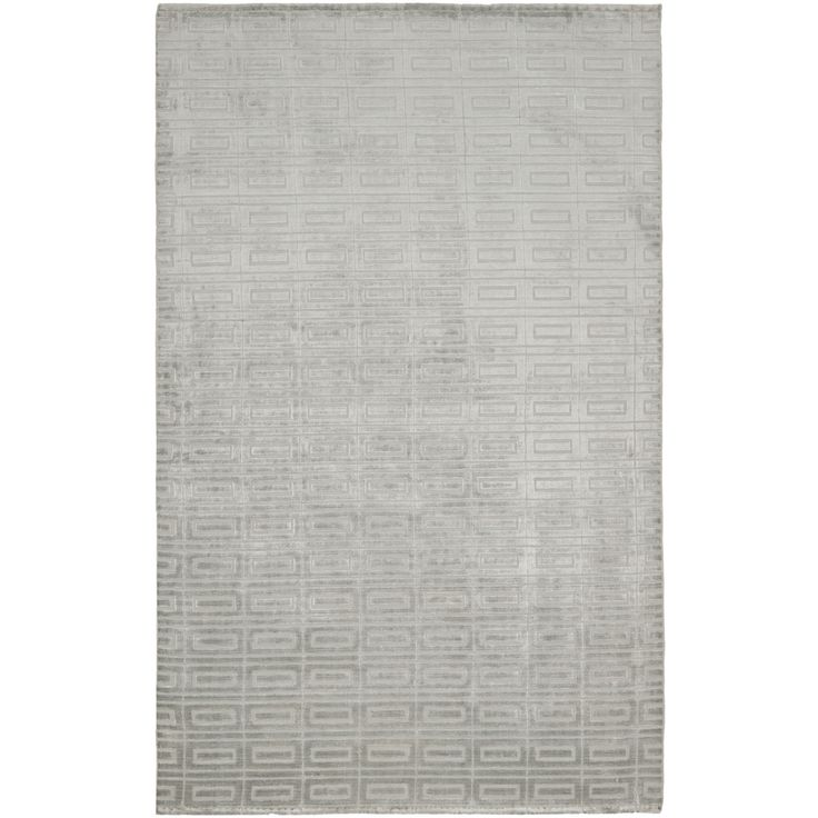 Hand Knotted Mirage Silver Viscose Rug 8 X 10
