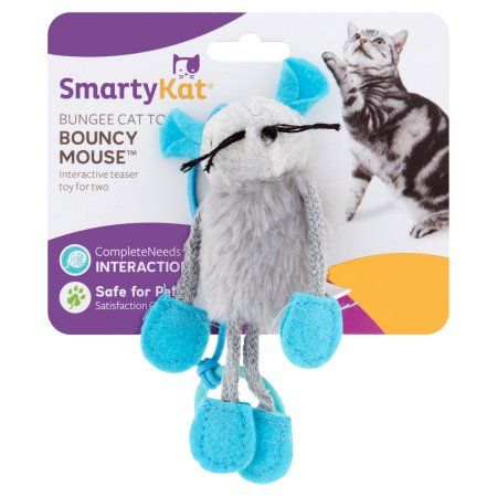 SmartyKat BouncyMouse Interactive Toy, 1ct, White
