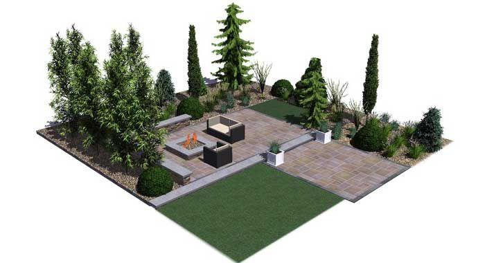 Modern Living Design Template #3DlandscapedesignTemplates 3Dlandscapedesign, Living Design, Crafts Ideas, Design Templates, Modern Living, 3D Landscapes, Landscapes Design