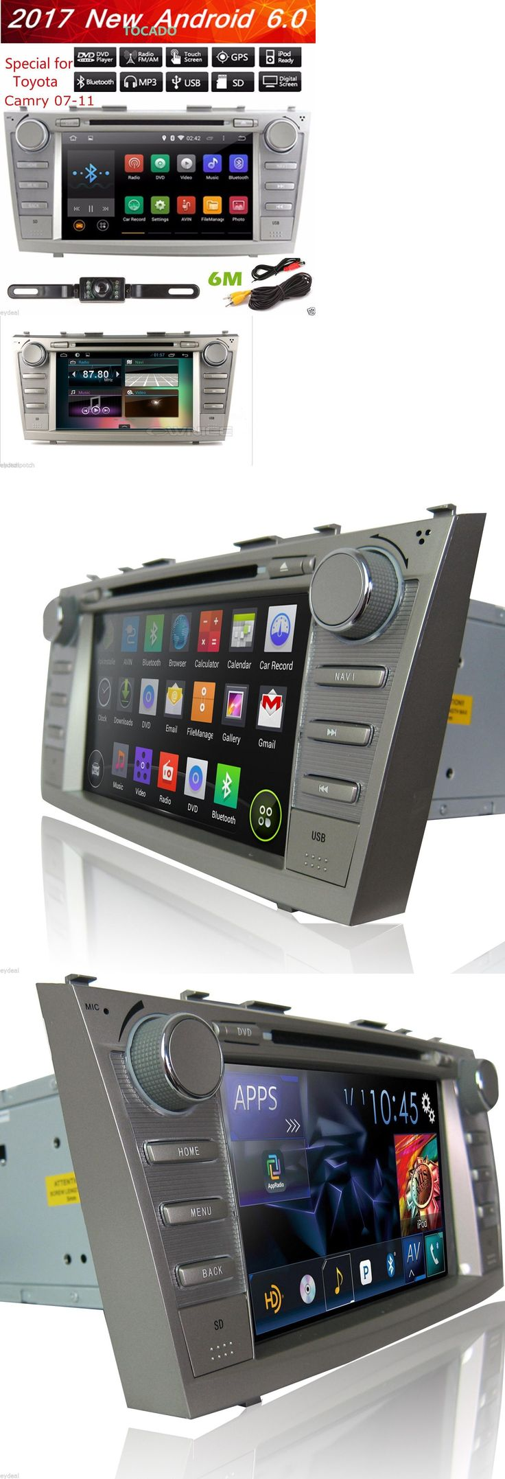 Video In-Dash Units w GPS: 8 Toyota Camry 2007-2011 Gps Navigation Android 6.0 Car Radio Stereo Dvd Player -> BUY IT NOW ONLY: $228.97 on eBay!