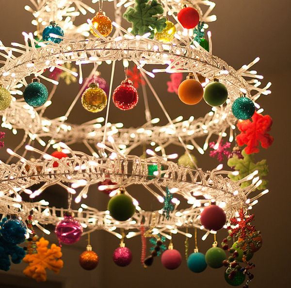 Modern Christmas Chandeliers- DIY