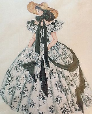New Gone With The Wind  Counted Cross Stitch Kit Scarlet O'Hara Barbecue Dress