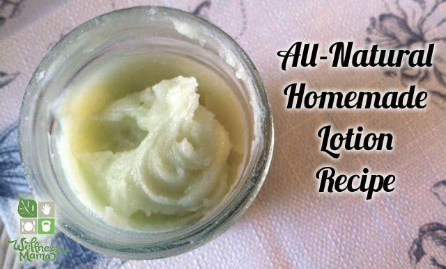 Luxurious Homemade Lotion Recipe from WellnessMama.com #beauty #wellness #natural