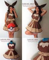 Eevee Pokemon Gijinka Cosplay Pinafore by DarlingArmy
