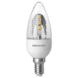 For a sparkling light effect, try the Megaman 143167, or anyone of their other Incanda-LED bulbs.